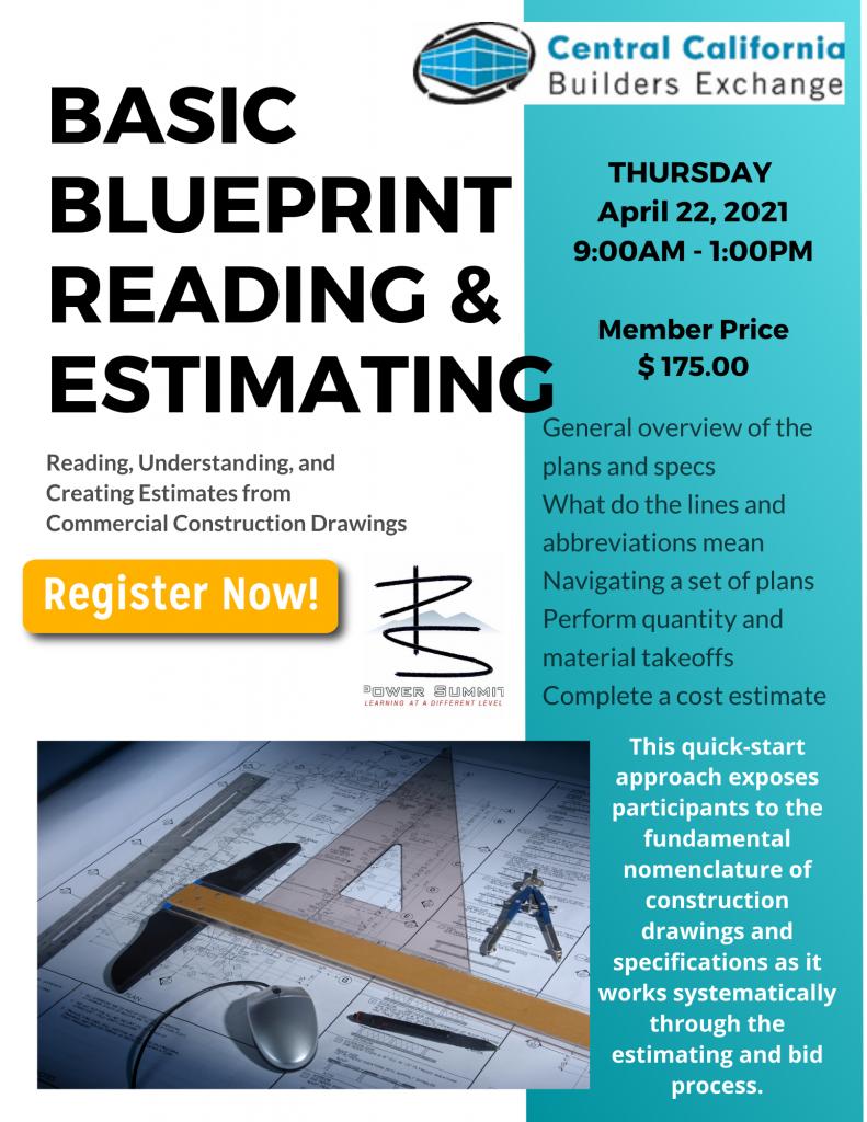 Basic Blueprint Reading & Estimating Webinar